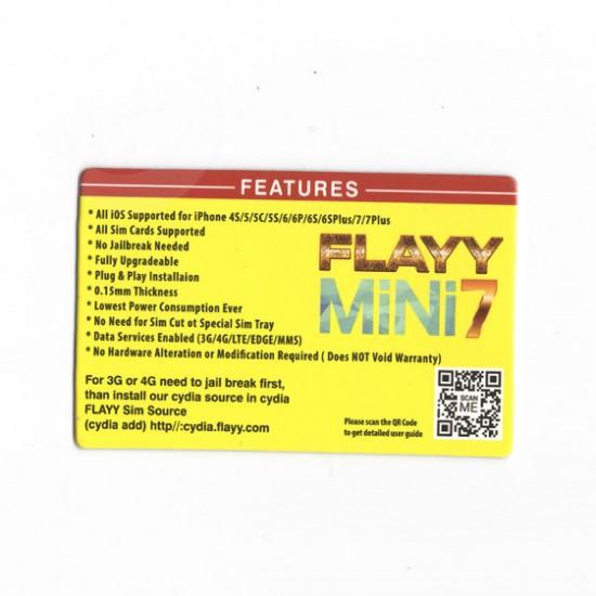 FLAYY SIM MINI 7 V3 OEM IOS 12 SUPPORTED